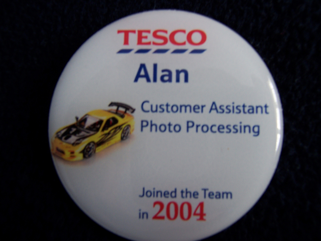 While staff name badges have looked like this in the past, new ones allow you to effectively track your staff ... photo by CC user adspackman on Flickr