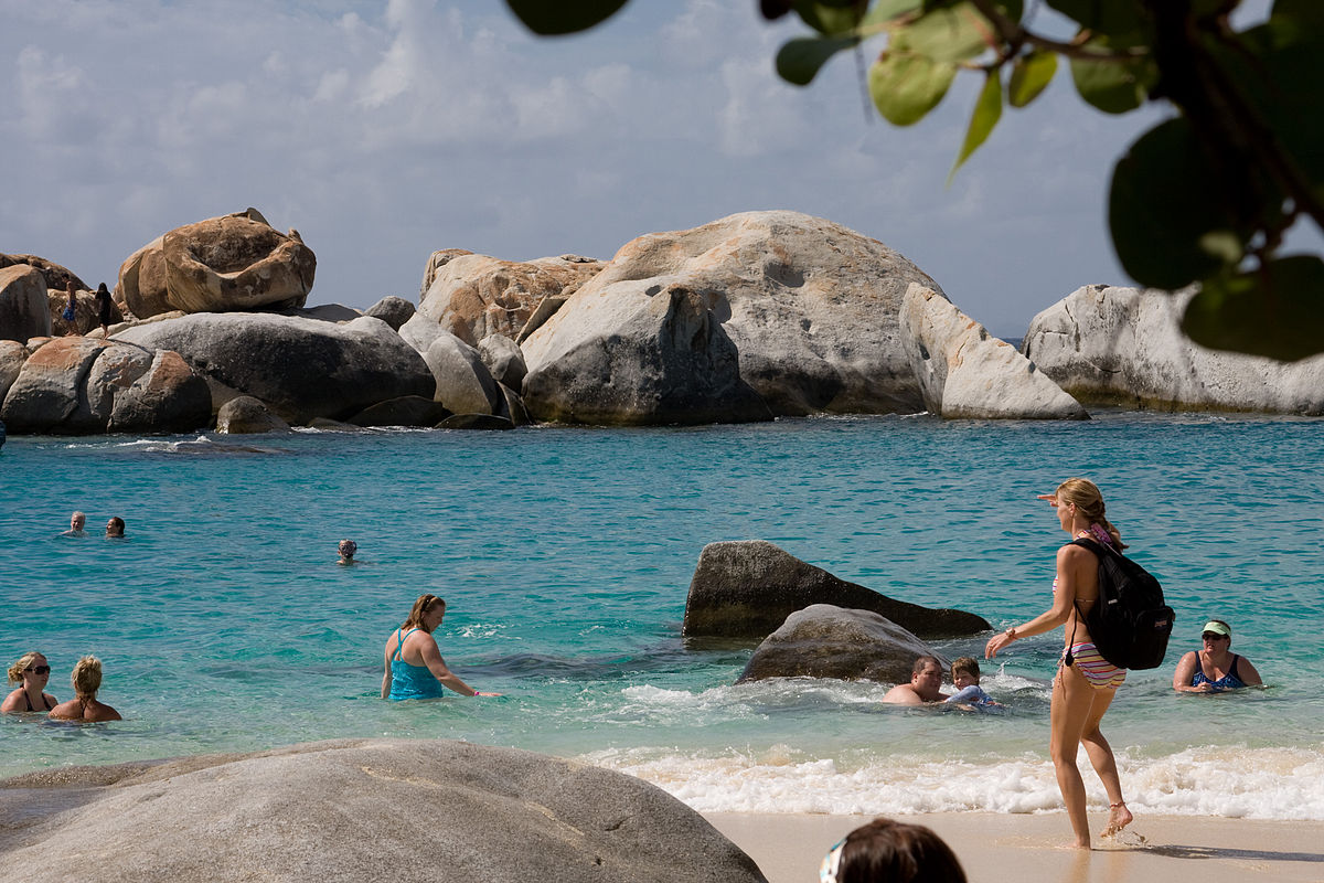 The Baths are the shining star of Virgin Gorda ... photo by CC user Calyponte on wikimedia commons