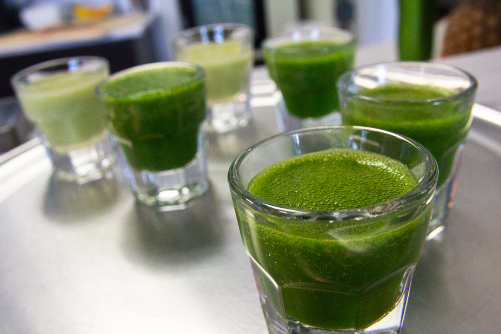 The Health benefits of slow juices like Wheatgrass are well documented ... photo by CC user stevendepolo on Flickr