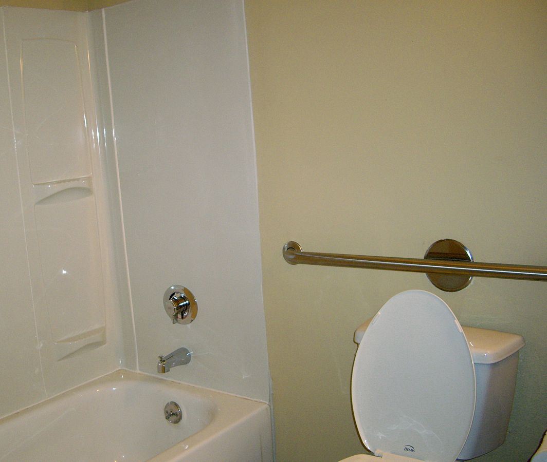 A grab bar is one way to make a Bathroom Safe for Seniors